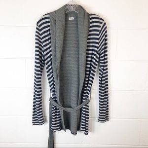Splendid Navy Gray Silver Cardigan Sweater Medium